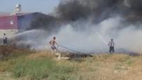 NARLıCA - Hatay'da İş Yeri Hurdalığında Yangın