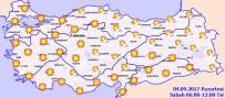 METEOROLOJI GENEL MÜDÜRLÜĞÜ - Yurtta hava durumu! (04.09.2017)