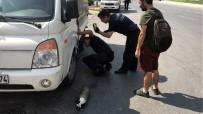 İTFAİYE ERİ - İtfaiyeden Kamyonetin Motoruna Sıkışan Kediyi Kurtarmak İçin Akıllı Yöntem