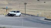 TAŞAĞıL - Erzurum'da Trafik Kazası Açıklaması 3 Yaralı