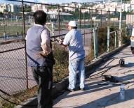 İSTİNAT DUVARI - Körfez'de Okullara Bakım Desteği