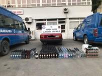 ALKOLLÜ İÇKİ - Mersin'de 444 Şişe Kaçak İçki Ele Geçirildi