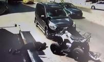 AKMEŞE - Aracın Çarptığı ATV Sürücüsü Havaya Uçtu