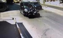AKMEŞE - ATV Sürücüsünün Çarpma Sonrası Yola Fırlaması Kamerada