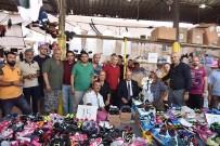 SEMT PAZARI - Başkan  Albayrak'a Pazarcılardan Yoğun İlgi