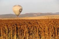 SICAK HAVA BALONU - Bozkırın Ortasında Denizden Sonra Balon Keyfi