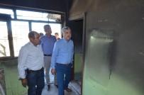 BAŞPıNAR - Evi Yanan Ailenin Yardımına Yeşilyurt Belediyesi Koştu