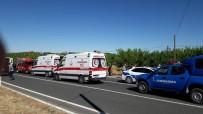 Otomobil Takla Attı Açıklaması 4 Ağır Yaralı
