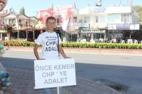 SEÇİLME HAKKI - CHP Üyesinin 'Önce CHP'de Adalet' Yürüyüşüne OHAL Engeli