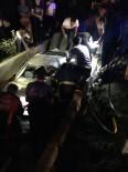 ELEKTRİK DİREĞİ - Otomobil Kanala Düştü Açıklaması 1 Ölü, 2 Yaralı