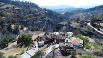 GÖKOVA - Yangında Büyük Zarar Gören Zeytinköy Drone İle Görüntülendi
