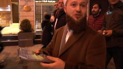 İstiklal Caddesi'nde yılbaşı kutlamalarına karşı broşür dağıtıldı