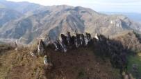 Efsaneye Konu Olan Kayalıklar Havadan Görüntülendi