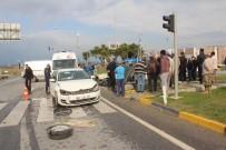GÜNDOĞDU - Antalya'da Trafik Kazası Açıklaması 3 Yaralı