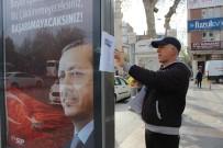 Cumhurbaşkanı Erdoğan'a Yazdığı Şiirle Adıyaman Sokaklarını Süsledi