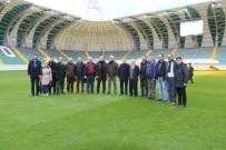 ÇALIŞAN GAZETECİLER - Akhisarspor'un Yeni Stadı Basına Tanıtıldı