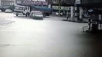 BENZIN - Başkent'te Kontrolden Çıkan Araç Benzin İstasyonuna Girdi