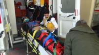 PEYGAMBER - Otomobilin Çarptığı Motosiklet Sürücüsü Yaralandı