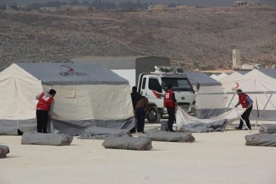 Türk Kızılayı İdlib'te Yeni Çadır Kentler Kuruyor
