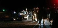 Develi'de 2 Otomobil Kafa Kafaya Çarpıştı Açıklaması 4 Yaralı