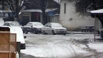SINIR KAPISI - Kırklareli'nin Yüksek Kesimlerinde Kar Yağışı
