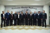 KASTAMONU ÜNIVERSITESI - Narın Valisi Amanbay Kayıpov, Belediye Başkanı Tahsin Babaş'ı Makamında Ziyaret Etti