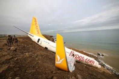 Pegasus Havayolları Yetkilileri Pistten Çıkan Uçakları İle İlgili Trabzon'a Gelerek İnceleme Başlattı