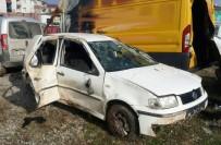 Kontrolden Çıkan Otomobil Takla Attı Açıklaması 1 Yaralı
