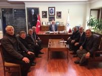 KALDIRIMLAR - Muhtarlardan Başkan Seyfi Dingil'e Ziyaret