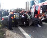 TRAFİK YOĞUNLUĞU - Tem Otoyolunda Sıkışmalı Trafik Kazası Açıklaması 3 Yaralı