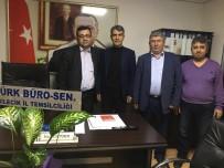 BILECIK MERKEZ - Türk Büro-Sen'den Merkez İlçe Başkanlığı'na Ziyaret