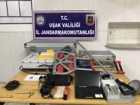 ULUPıNAR - Uşak'ta 5 Kişi 80 Bin Euro Değerindeki Radarla Define Ararken Yakalandı