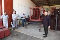 BELEDİYE BAŞKANI - Başkan Böcek, 'Atölyeleri' İnceledi