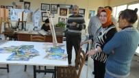 YAĞLıBOYA - Halk Eğitim Kursları Emeklileri Ressam Yaptı