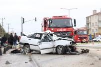 Karaman'da 1 Kişinin Öldüğü Kazanın Kamera Görüntüleri Ortaya Çıktı
