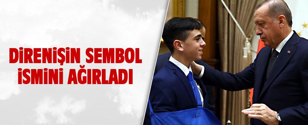 Cumhurbaşkanı Erdoğan, Filistin direnişinin simgesi Cuneydi'yi kabul etti