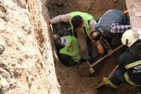 Göçükte Kalan İşçi İtfaiye Ekiplerince Kurtarıldı