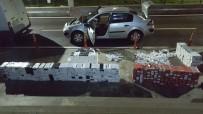 KAÇAK SİGARA - Otomobilden Kaçak Sigara Fışkırdı
