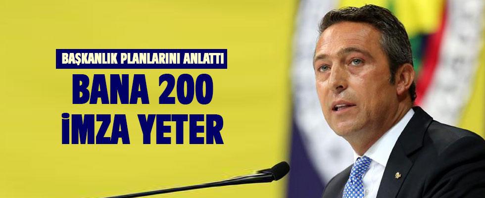 Ali Koç, Fenerbahçe başkanlık planlarını anlattı!