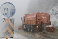 KAR LASTİĞİ - Bolu Dağında Kar Yağışı Başladı