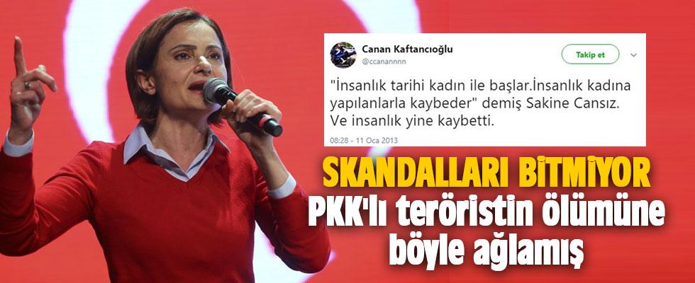 Skandalları bitmiyor: PKK'lı teröristin ölümüne böyle ağlamış