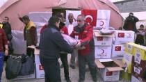 MEHDI - Türk Kızılayı'ndan Türkmen Göçmenlere Kış Kıyafeti Yardımı