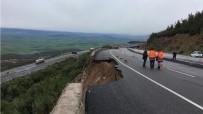 İSTİNAT DUVARI - Aşırı Yağış Karayolunu Çökertti
