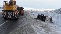 Konya'da Yolcu Otobüsü Şarampole Devrildi Açıklaması 38 Yaralı