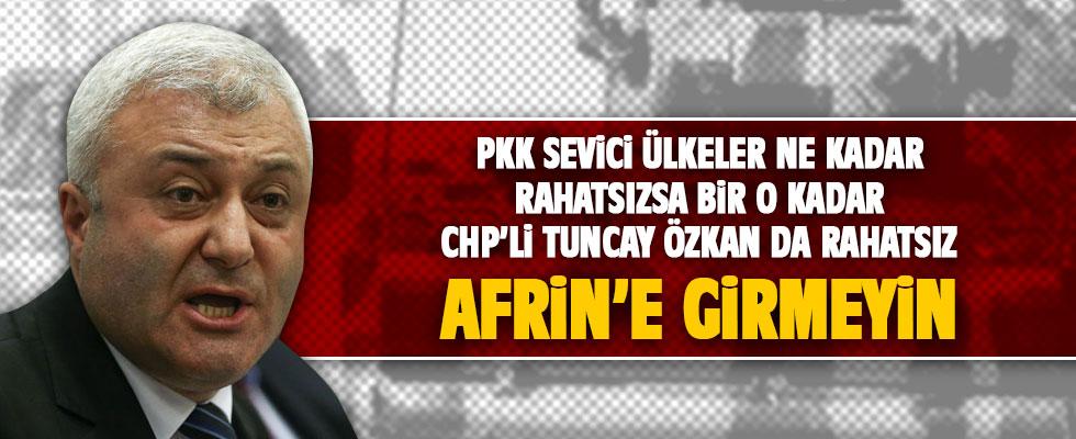 Tuncay Özkan da Afrin operasyonundan rahatsız!