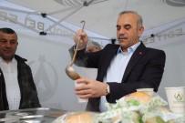PAZARCI - Başkandan Çorba İkramı