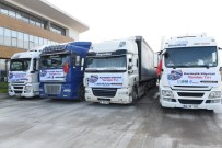 HÜSEYİN KAPLAN - Bursa'dan Suriye'ye Yardım Tırları Gönderildi