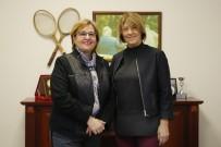 KADIN BAŞKAN - Pekdaş'tan Kültürpark Tenis Kulübüne Ziyaret