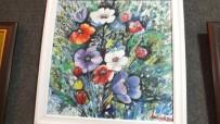 AHMET AKıN - Kadın Ressam 15 Yıllık Emeğini Sergiledi