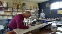 NAHÇıVAN - Kurumuş Kayısı Ağaçlarını Sanata Dönüştürüyor